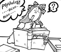 student studying psychology