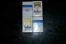 four packs of cigarettes