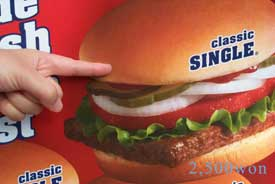 hamburger: 2,500 won