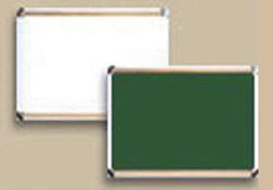 blackboard and whiteboard