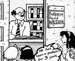 Mr. Wilson has been a professor for 3 years.
