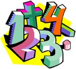 numbers and math signs