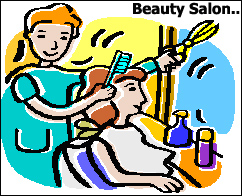 woman getting her hair done at a beauty salon
